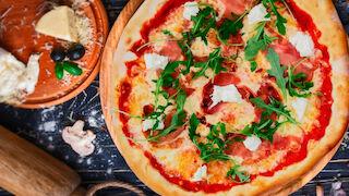 rosso prosciutto crudo pizza