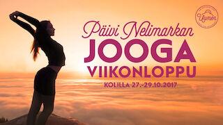 Päivi Nelimarkan Jooga viikonloppu 27.-29.10.2017