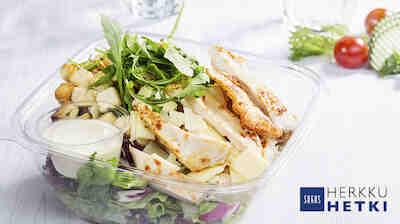 Sokos Ravintola Herkusta myös mukaan otettavat HerkkuHetki-salaatit