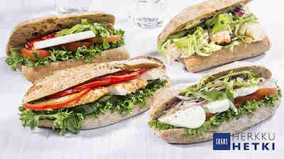 Sokos Ravintola Herkusta myös mukaan otettavat HerkkuHetki-leivät