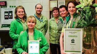 Prisma Rovaniemen pankin henkilökuntaa