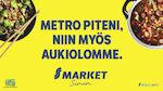 S-marketit läsimetron varrella