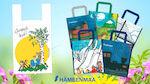 Kesäinen muovikassi ja kestokassit