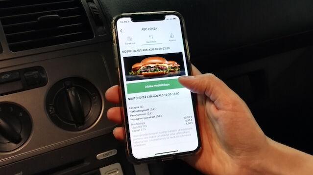 ABC-asemalle voi nyt tilata puhelimen sovelluksella ruoan ennakkoon valmiiksi pöytään