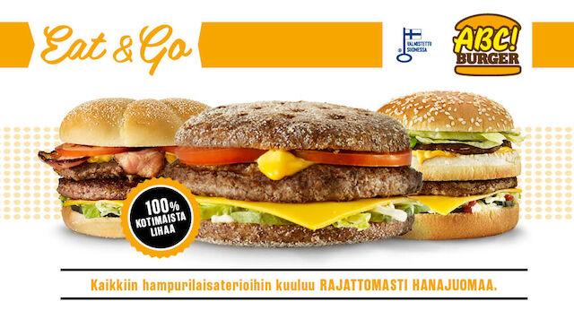 ABC panostaa omaan pikaruokavalikoimaan  – Uudistuksen yhteydessä ABC Burgerille Avainlippu