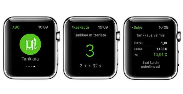 ABC-mobiilitankkaus onnistuu nyt myös Apple Watchilla