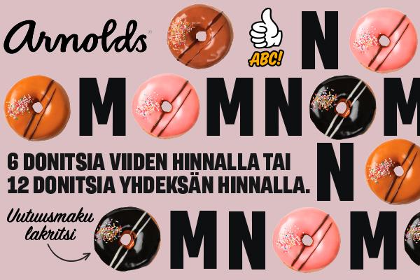 Makeaa mahan täydeltä! Uusi Arnoldsin donitsimaku valikoimassamme!