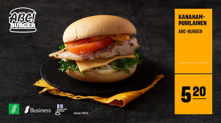 ABC Burger kanahampurilainen 5,20 €