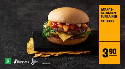 ABC Burger ananassalsahampurilainen 3,90 €