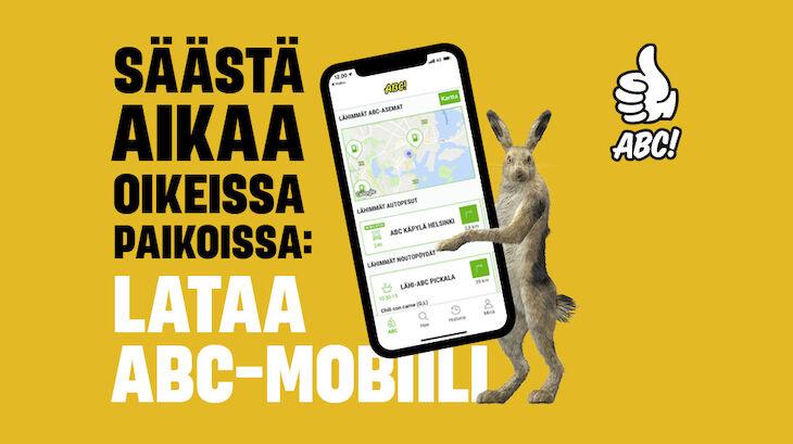 Lataa ABC-mobiili ja lunasta rahanarvoinen etu!