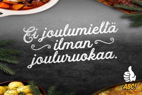 Joulun Noutopöytä tarjolla ABC Liikennemyymälässä 6.-7.12.2020!