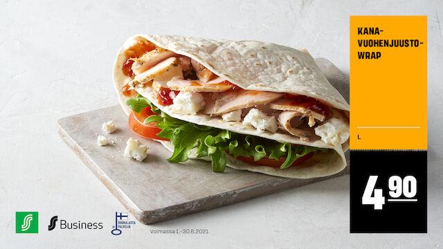 Kana-vuohenjuustowrap 4,90 €