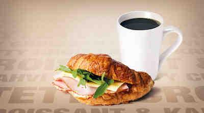 Täytetty Croissant & Kahvi, Coffee House Raflaamo