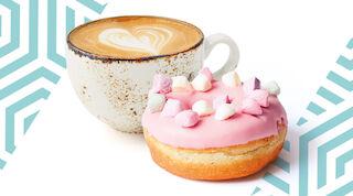 Coffee House cappuccino & donitsi Raflaamo