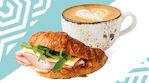 Coffee House Croissant ja cappuccino