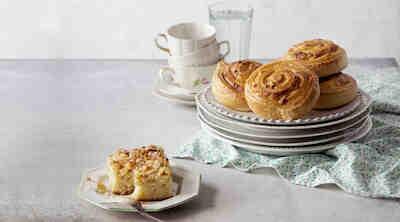 Presso juustokierre tai omenapiirakka Raflaamo