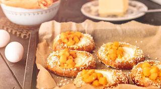 Presso rahka-persikkapulla