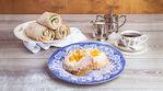 Presso leipärulla ja persikkapulla Raflaamo