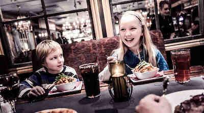Lasten kanssa ravintolassa Virgin oil
