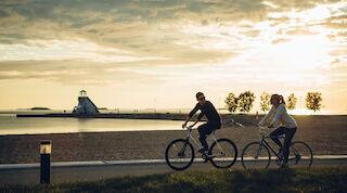 Biking Oulu Nallikari
