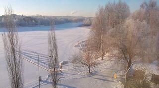 Original Sokos Hotel Vaakuna Hämeenlinna talvikuva huoneen ikkunasta