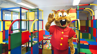 The playroom for children is being renovated