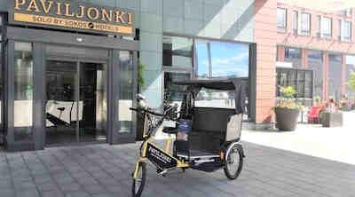Solo Sokos Hotel Paviljonki, biketaxi at summer 2020