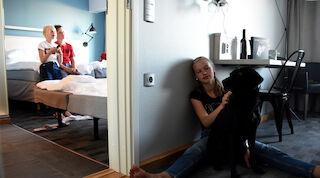 Combihuone, Vaakuna Vaasa, majoitus Vaasassa lasten kanssa