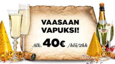 Vappu, Fiesta, viikonloppu, shoppailu, bailu, Original Sokos Hotel Vaakuna Vaasa, halpa yö