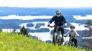 Pyöräilyä voi harrastaa Tahkolla vuoden ympäri