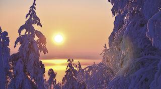 Auringon nousu Tahkolla