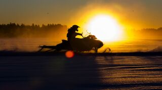 Snowmobiling is one of the most favourite winter activities.