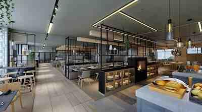 Uusi aamiais-ja tapahtumaravintola