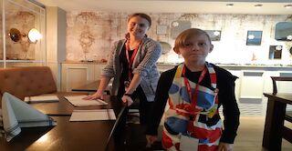 Nanna ja Toivo lounas valmisteluissa
