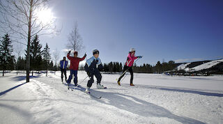 Winter activities at Tahko: skiingtrack on Tahko
