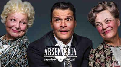 Arsenikkia ja vanhaa pitsiä -esitys Porin Teatterin päänäyttämöllä ja majoitus Original Sokos Hotel Vaakunassa, Porissa