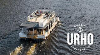 floating sauna, floating sauna ferry, Saimaa, water, sauna, swimming