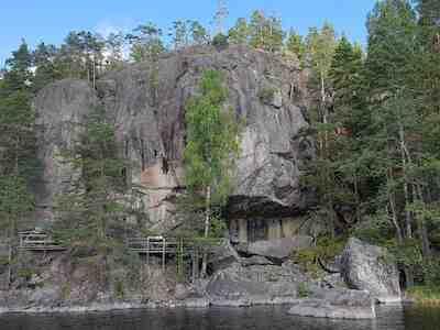 Astuvansalmen kalliomaalaukset, vaakuna, Mikkeli, kesäretki