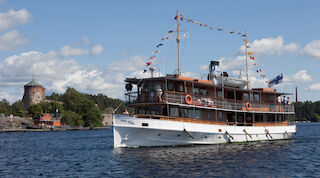 cruise, steam ship, Hotel Tott, summer, Savonlinna