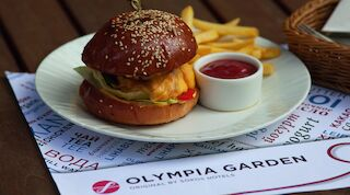 Olympia chicken burger