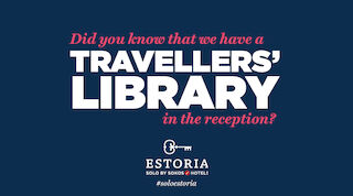 Visste du att vi har ett resenärbibliotek i hotellets reception?