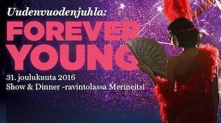 Uutena vuotena Starlight Cabaret Merineitsissä Tallinnassa ja majoitus Tallinnan Sokos Hotelleissa