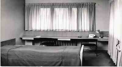Hotelli Helsingin huone 50-60-luvulla
