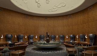 Paavo Tynell lamp design hotel decor helsinki sokos