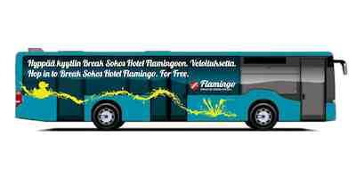 Break sokos hotel flaming free airport shuttle bus airport hotel
