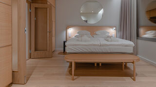 Original Sokos Hotel Triplan sisustuksessa on keskitytty rauhoittavan tunnelman luomiseen.