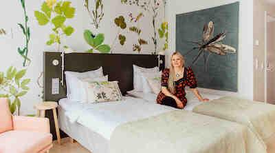 Paola Suhonen in Midsommer room - Original Sokos Hotel Presidentti Helsinki Finland