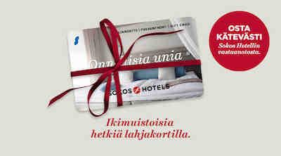 sokos hotels lahjakortti, s-ryhmän lahjakortti, sokos hotels