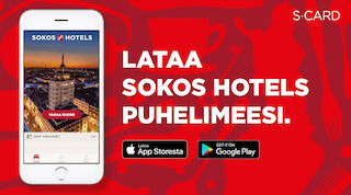 s-card sokos hotels sovellus appi applikaatio mobiili