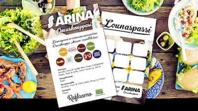 Osuuskauppa Arinan lounaspassilla joka 10. lounas veloituksetta